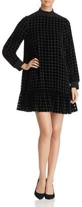 Emporio Armani Burnout Velvet Polka Dot Dress