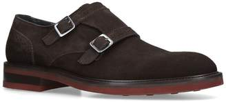 Salvatore Ferragamo Suede Branson Double Monk Shoes