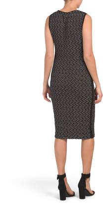 Wavy Knit Jacquard Dress