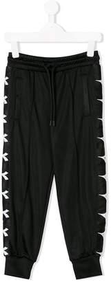 Diadora Junior logo slim-fit trousers