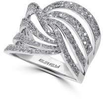 Effy Pavé Diamond & 14K White Gold Ring