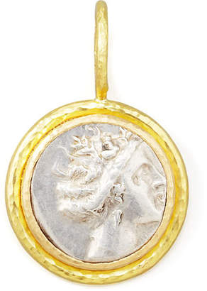Elizabeth Locke Ancient Greek Silver & 19k Gold Coin Pendant