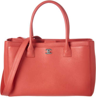 Chanel Pink Caviar Leather Medium Cerf Tote