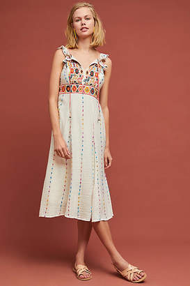 Maeve Llama Embroidered Dress