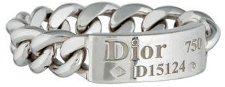 Christian Dior Chain Link Tag Ring