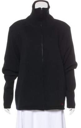 Burberry Merino Wool Zip-Up Sweater
