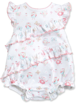 Kissy Kissy Owfully Cute Ruffle Bubble Playsuit, Pink, Size 3-18 Months $38 thestylecure.com