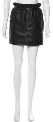 Magda Butrym Leather Mini Skirt