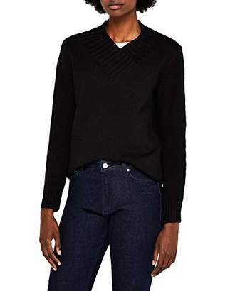 Meraki Women's Chunky Shawl Collar V-Neck Sweater