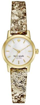 Kate Spade New York Metro Gold Glitter Watch $175 thestylecure.com