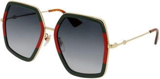 Gucci Oversized Square Web Sunglasses