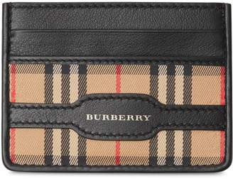 Burberry 1983 Check and Leather Card Case