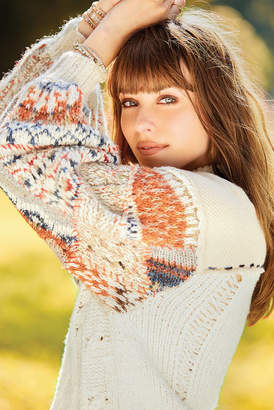 Free People Mixed and Mended Pullover