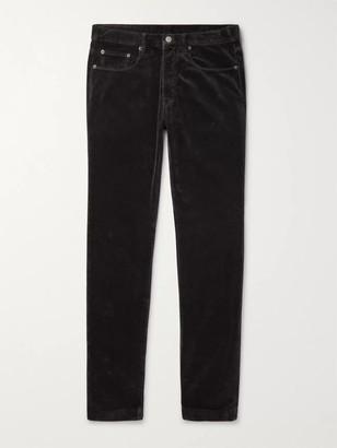 Massimo Alba Slim-Fit Tapered Cotton-Velvet Trousers