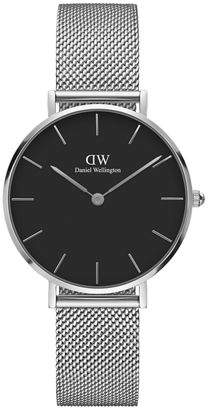 Daniel Wellington 32mm Classic Petite Melrose Bracelet Watch w/Black Dial