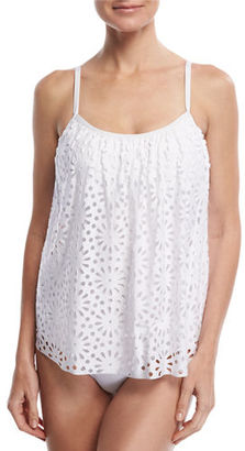 Luxe by Lisa Vogel Aphrodite Floral Sway Tankini Swim Top $118 thestylecure.com