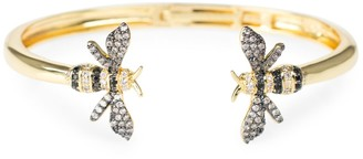 Kenneth Jay Lane Cz By Look Of Real Goldplated & Cubic Zirconia Bumblebee Cuff Bracelet
