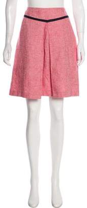 Tory Burch Knee-Length Linen-Blend Skirt