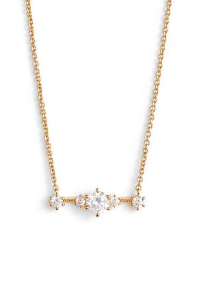 Nadri Edwardian Crystal Bar Necklace
