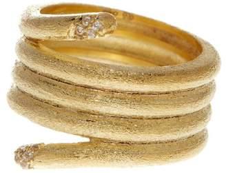 Rivka Friedman Simulated Diamond Accent Satin Band Ring