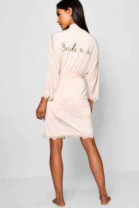 boohoo Bride To Be Robe