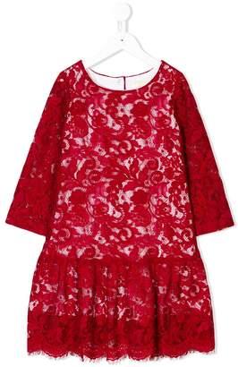 MonnaLisa dropped-waist lace dress