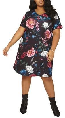 Dorothy Perkins Floral Print Shift Dress (Plus Size)