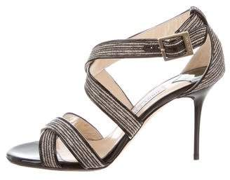 Jimmy Choo Patent Leather Ankle Straps Sandals
