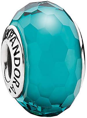 Pandora Silver Teal Murano Glass Charm