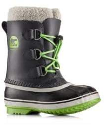 Sorel Toddler's& Kid's Yoot Pac Faux Fur-Cuff Leather Snow Boots