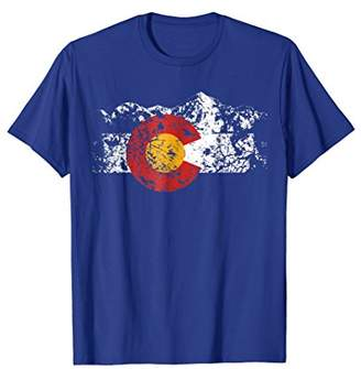 Colorado Flag Vintage Mountain T-Shirt