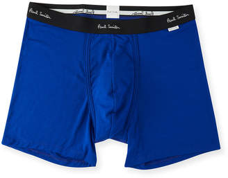 Paul Smith Men's Solid Jersey Trunk Boxer Briefs