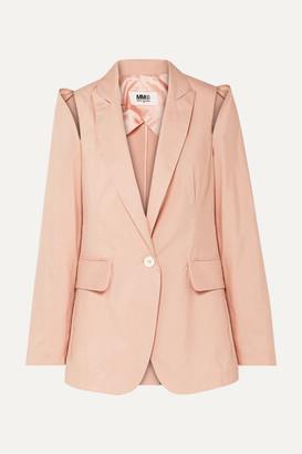 MM6 MAISON MARGIELA Cutout Cotton-blend Jacket - Antique rose