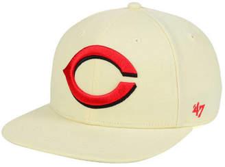 '47 Cincinnati Reds Natural No Shot Snapback Cap