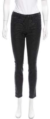 Marchesa Voyage Mid-Rise Jacquard Jeans