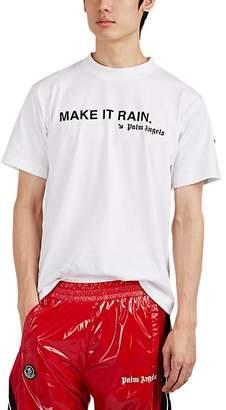 """Palm Angels 8 MONCLER Men's """"Make It Rain"""" Cotton T-Shirt"""