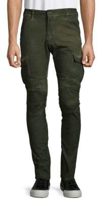 Washed Moto Slim Cargo Pants $170 thestylecure.com