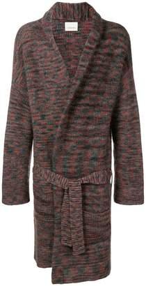Laneus knit midi coat