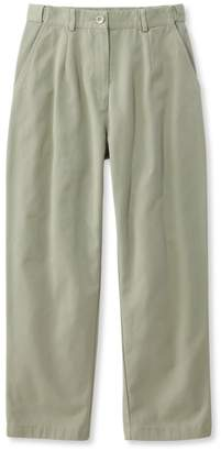L.L. Bean L.L.Bean Wrinkle-Free Bayside Pants, Cropped Original Fit Hidden Comfort Waist