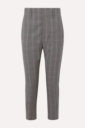Etoile Isabel Marant Noah Checked Wool Tapered Pants - Gray