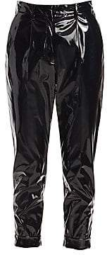 No.21 No. 21 No. 21 Women's Pleated PVC Cropped Trousers
