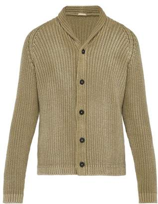 Massimo Alba Faded Buttoned Cotton Cardigan - Mens - Beige