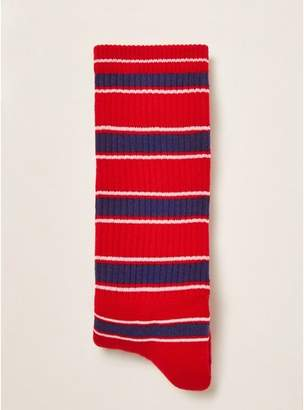 Topman Mens Red Striped Tube Socks