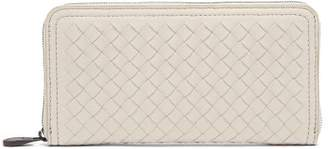 Bottega Veneta Intrecciato Continental Leather Wallet - Womens - Light Grey
