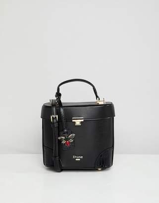 Dune Duffie Black Lady Boxy Handheld Tote Bag