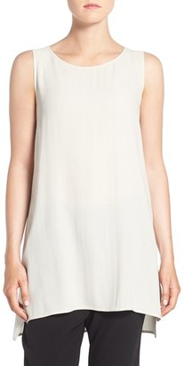 Women's Eileen Fisher Silk Crepe Scoop Neck Sleeveless Tunic $248 thestylecure.com