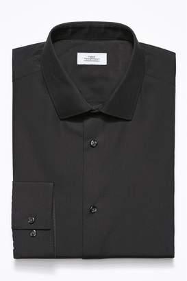 Next Mens Black Slim Fit Single Cuff Easy Care Shirt - Black