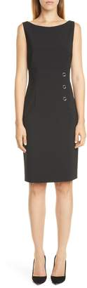 BOSS Daciana Stretch Wool Sheath Dress