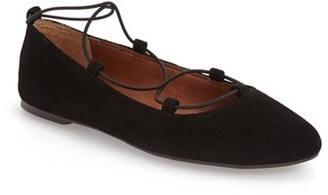 Women's Lucky Brand 'Aviee' Lace-Up Flat $43.95 thestylecure.com