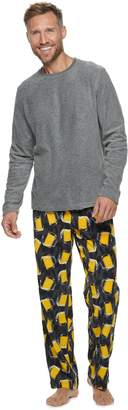 Croft & Barrow Men's Patterned Crewneck Tee & Lounge Pants Set